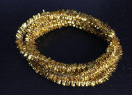 """75"""" Of Gold Dolls House Christmas Tinsel"""