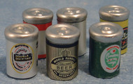 Six Assorted Beer Cans