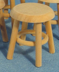 Bare Wood Stool