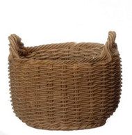 30mm Diameter Round Cross Weave Basket Resin