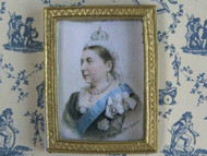 Small Framed Picture Of Queen Victoria