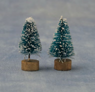35mm Very Small Pair Of Trees With Snow