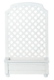 White Trellis Planter