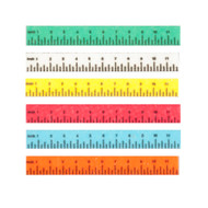 6 Coloured Rulers