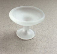 Small Frosted Glass Cake Stand