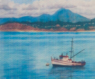 Tableau On Canvas Boat