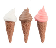 Three Ice Cream Cones