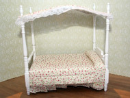 White Double Canopy Bed