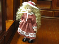 Heidi Ott Doll Young Girl In Red Dress & Hat