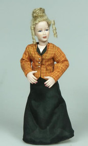 Heidi Ott Lady Doll Orange Top With Black Skirt