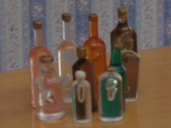 Ten Small Mixed Bottles