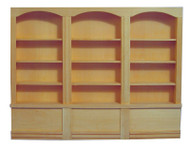 Large Barewood Shop Shelving Unit