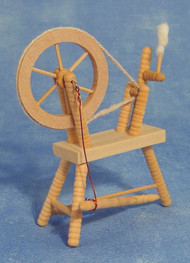 Bare Wood Spinning Wheel