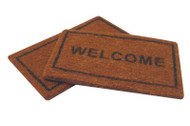 One Welcome Mat & One Plain Mat