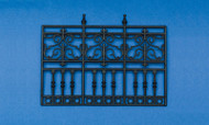 3-Panel Ornate Plastic Railing / Fence (Style 1)