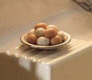 Eggs In A Metal Bowl