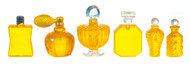 Yellow Perfume Set With Removable Lids