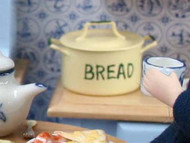 Cream & Green Bread Bin