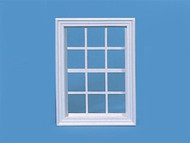 White Georgian Wooden Window 15cm by 11cm