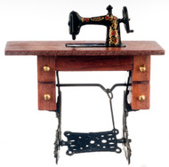 Wooden Treadle Sewing Machine