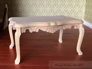 Bare Wood Table With Cabriole Legs