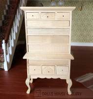 Bare Wood Chippendale Highboy