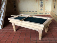 Bare Wood Billiard Table