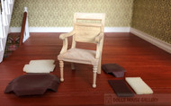 Bare Wood Leather Back Chair