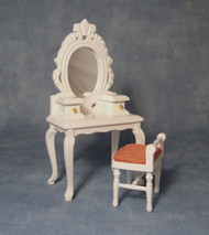 White Dressing Table & Stool