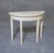 White Half Moon Side Table