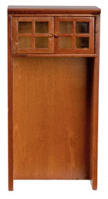 Walnut Cabinet For A Refrigerator
