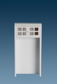 White Cabinet For A Refrigerator
