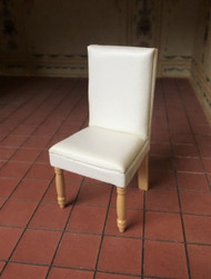 Faux White Leather Chair