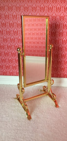 Golden Metal Bedroom Swivel Dress Mirror