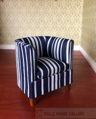 Blue Stripe Tub Chair