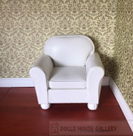 Faux White Leather Sofa Chair