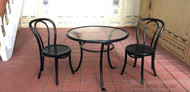 Black Wire Table & Chair