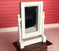 White Swivel Mirror