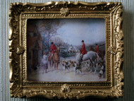 Ornate Golden Framed Hunting Scene