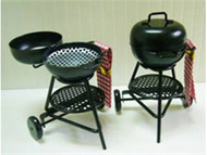 One Black Metal Barbecue Grill BBQ
