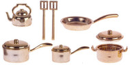 Bronze Kitchenware Pots & Pans Set