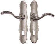 French Door Handles, Silver