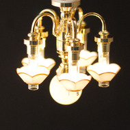 6 Light 5 Down Arm Chandelier