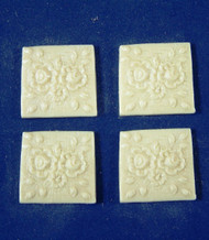 Wall Plaques Flower Design 4 Pack