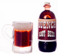 Quench Root Beer Bottle & Mug