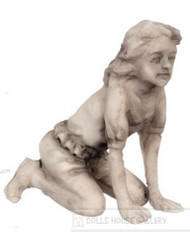 Grey Young Girl Garden Statue