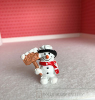 Snowman Happy Sign Christmas Figure