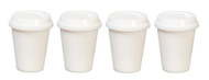Four Take Out Cups With Removable Lids