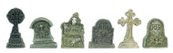 6 Detailed Tombstones / Gravestones