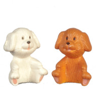 2 Toy Teddy Bears Brown & White